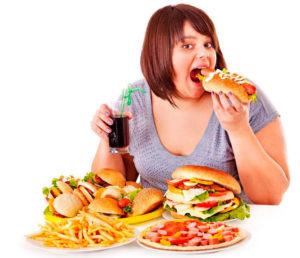 Девушка и неправильное питание
