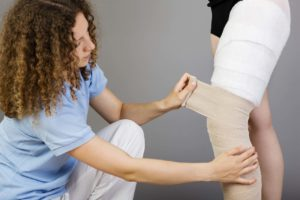 Бинтование ноги при лимфедеме