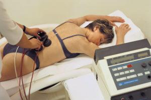 Магнитотерапия на области поясницы